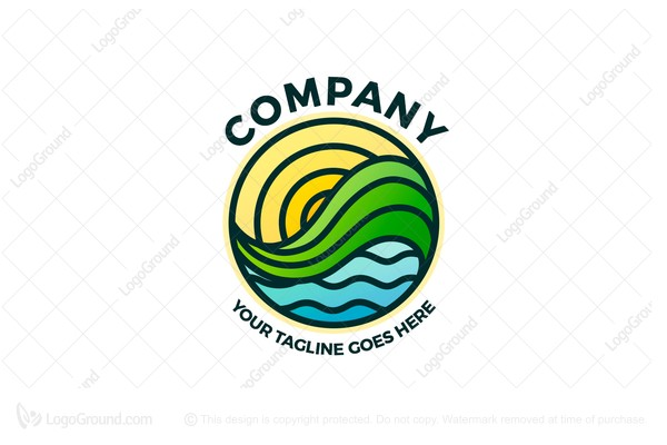 Logo for sale: Stained Glass Landscape Logo