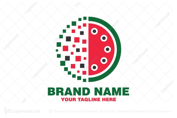 Logo for sale: Watermelon Data Logo