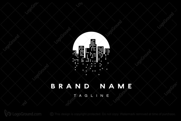 Logo for sale: Skyline Moon Logo