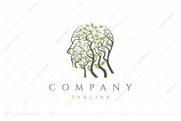 Logo for sale: Branched Face Logo