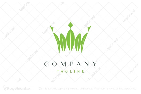 Logo for sale: Crown Of Leaves Logo