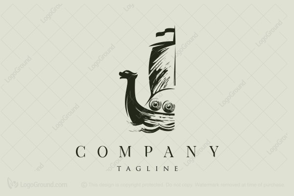 Logo for sale:  Viking Warship Logo