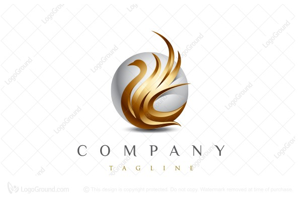 Logo for sale: Golden Swan Logo