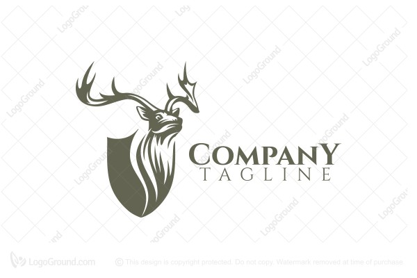 Logo for sale: Deer Shield Logo