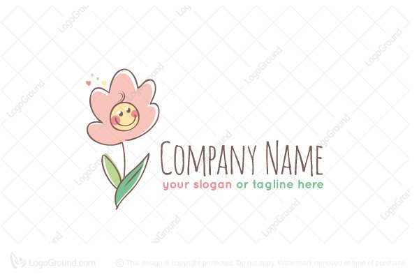 Logo for sale: Happy Flower Logo