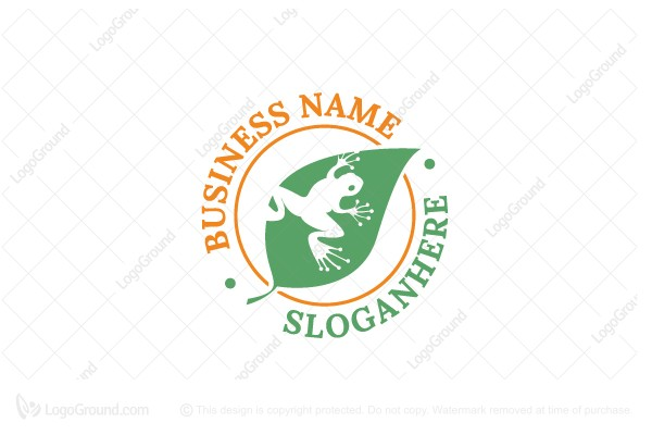 Logo for sale: Frog Silhouette Logo