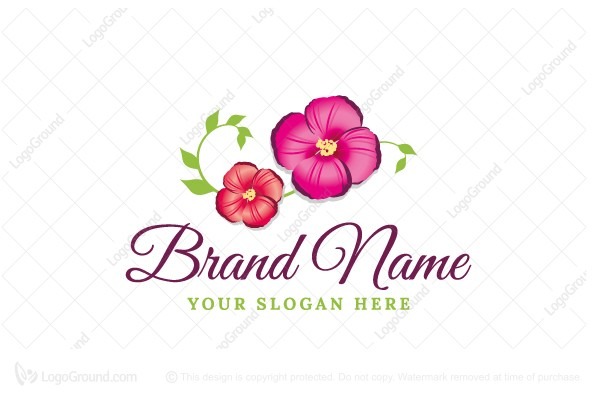 Logo for sale: Beautiful Colorful Flower Logo