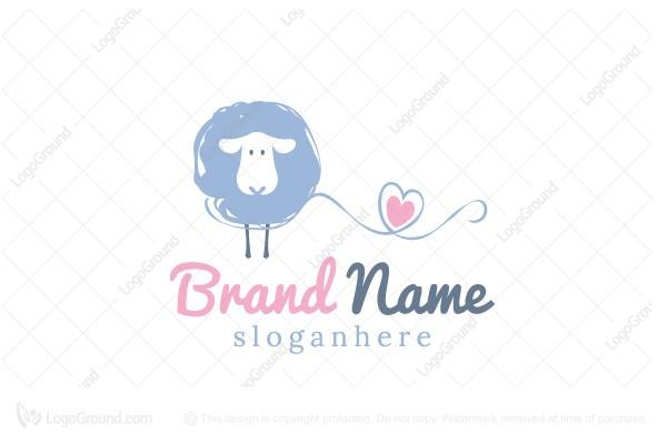 Exclusive Logo 164277, Lovely Sheep Logo