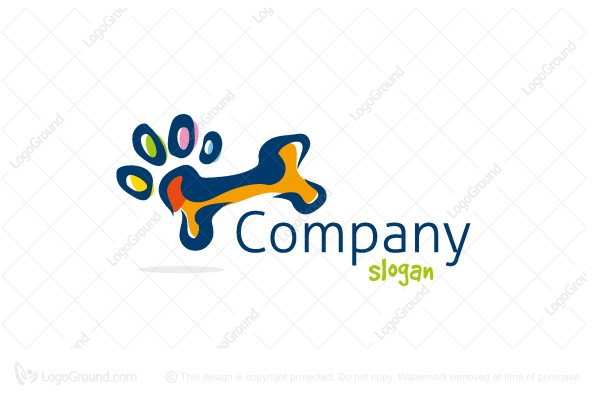 Logo for sale: Paw Bone Logo