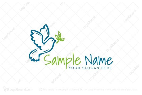 Exclusive Logo 171145, Dove Drawing Logo