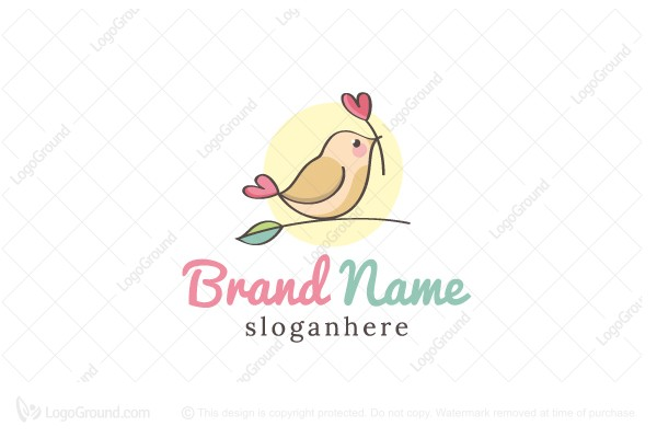 Logo for sale: Little Bird With Love Logo