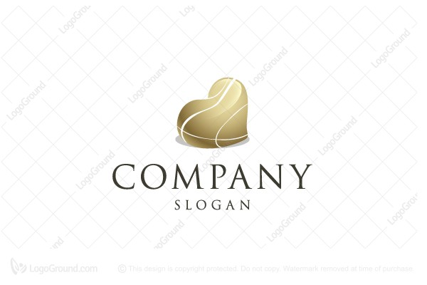 Logo for sale: Heart Shaped Stone Logo