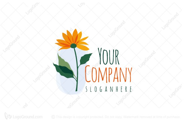 Logo for sale: Yellow Flower Logo