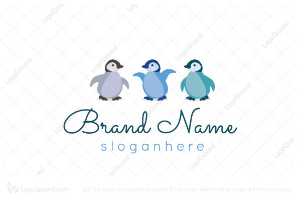 Logo for sale: Baby Penguin Logo