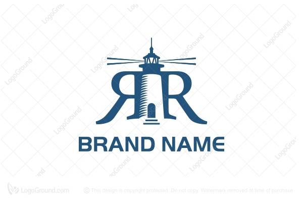 Logo for sale: Rr Lighthouse Logo