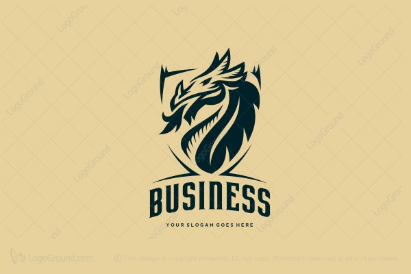 Logo for sale: Dragon Shield Logo