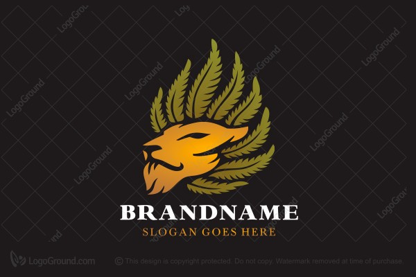 Logo for sale: Lion Weed Logo