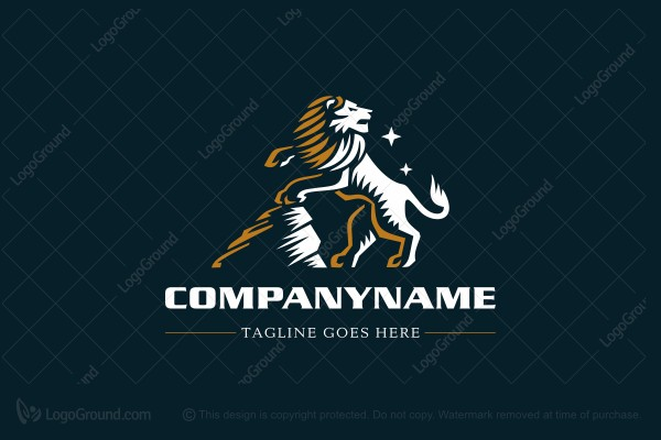 Logo for sale: Lion Rock Guard Logo