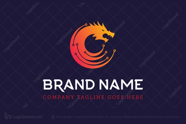 Logo for sale: Dragon Technology Logo
