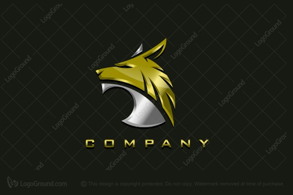 Logo for sale: Metallic Coyote Logo