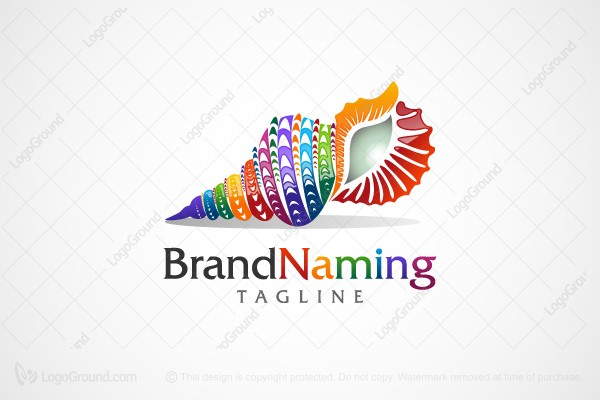 Logo for sale: Colorful Shell Logo