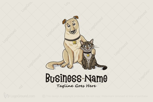 Exclusive Logo 136109, Friendly Pets Logo