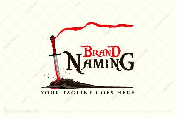 Exclusive Logo 143411, Ground Stabbed Sword Logo