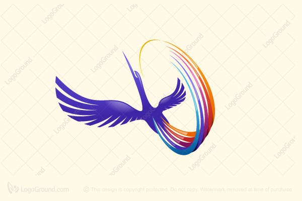 Logo for sale: Colorful Heron Logo