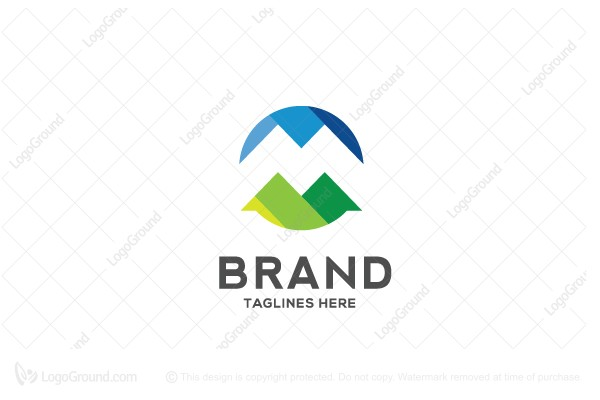 Logo for sale: M Circle Letter Logo