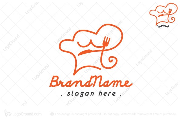 Exclusive Logo 166384, Cook Chef Fork And Knife Logo