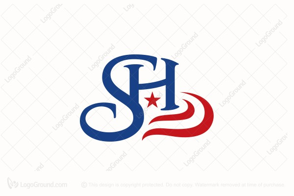 Logo for sale: Letters Sh  American Cowboy Hat Logo
