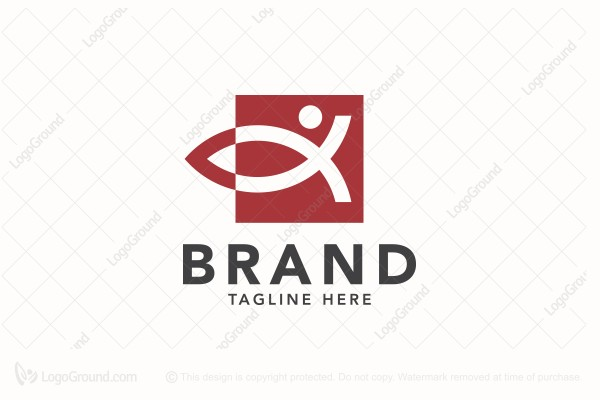 Logo for sale: People Ichthus Fish Logo
