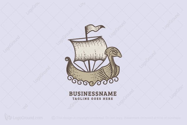 Logo for sale: Dragon Ship Logo