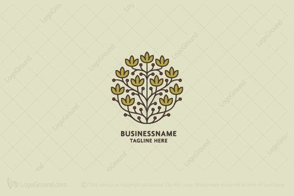 Logo for sale: Natural Leaves Blooming Logo