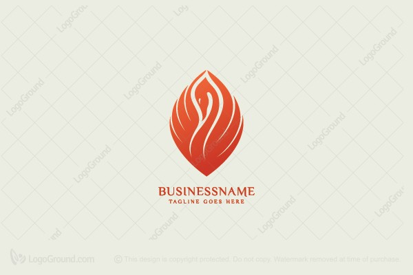Logo for sale: Beautiful Swan Logo