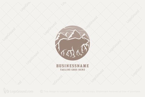 Logo for sale: Bear In Nature Logo