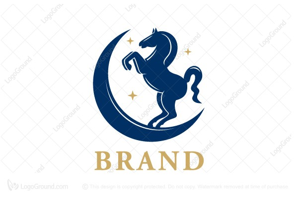 Logo for sale: Moon Horse Logo
