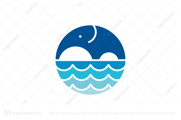 Logo for sale: Water Elephant Logo