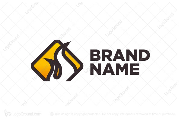 Logo for sale: Flammable Warning Sign Logo