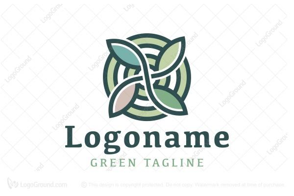 Exclusive Logo 155010, Herbal Leaves Target Logo