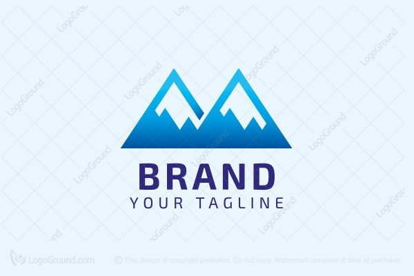Logo for sale: Mountains Letter M Logo