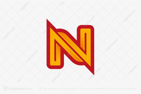 Logo for sale: Intertwined Letter N Logo