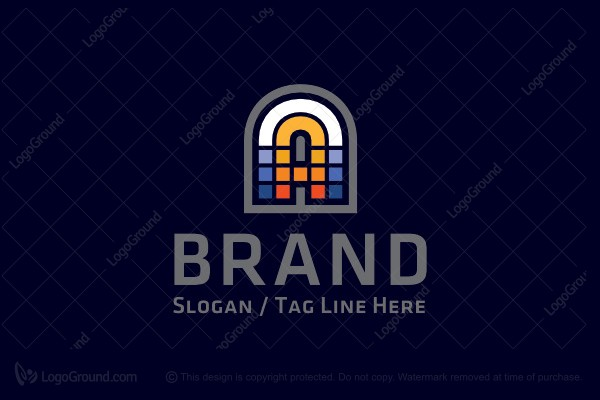 Logo for sale: Letter A Mosaic Logo
