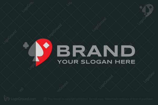 Logo for sale: Card Suites Logo