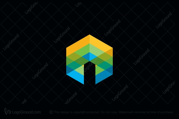 Logo for sale: Abstract Cube Logo