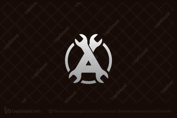 Logo for sale: Wrenches Letter A Logo