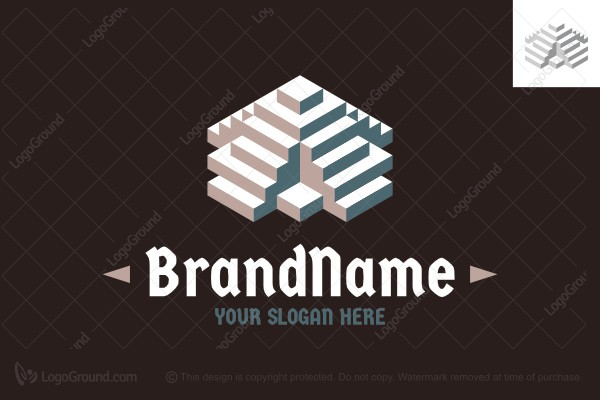 Logo for sale: Stepped Pyramid Logo