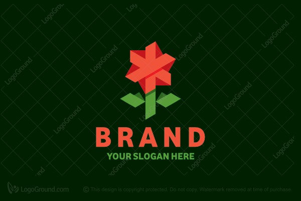 Logo for sale: 3d Flower Logo