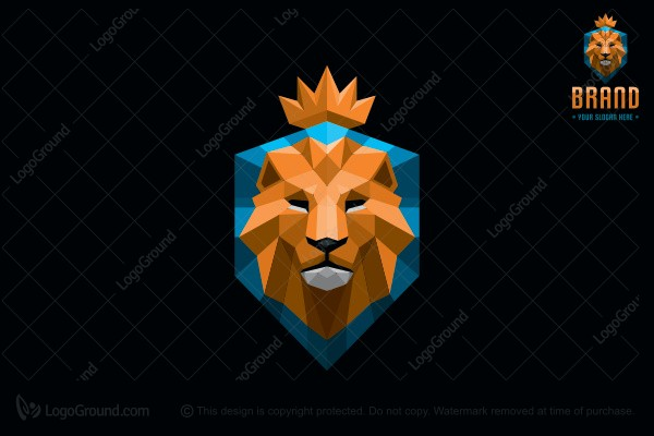 Logo for sale: Lion Shield Logo