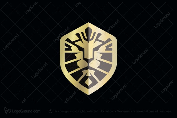Logo for sale: Shield And Lion Logo